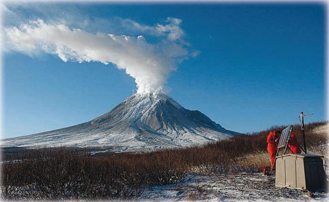 Zona subduksi gunung berapi St. Augustine di Alaska bangun dari tidur 20 tahunnya pada 2006.