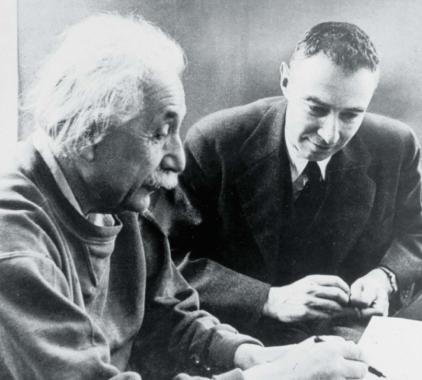 Albert Enstein & J. Robert Oppenheimer