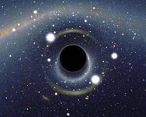 Simulasi tampilan black hole. Gambar: Alain Riazuelo.