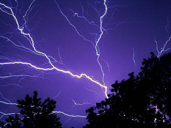 Petir merupakan lucutan elektrostatis dalam badai listrik di antara kawasan-kawasan awan yang bermuatan listrik.