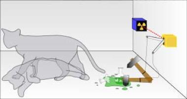 Tak ada jalan kembali. Sebelum pengamatan, kucing Schrödinger hidup sekaligus mati. Pembukaan kotak mengunci nasibnya.