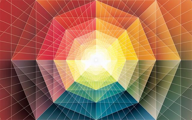 Dalam sebuah teori baru nan radikal, skala massa dan panjang timbul dari interaksi antar partikel. (Andy Gilmore untuk Quanta Magazine)