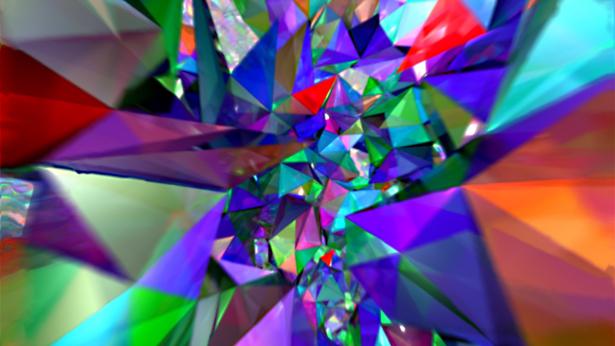 Video: Dalam gambaran seniman ini, jejaring yang mendasari ruang-waktu dalam loop quantum gravity diperlihatkan sebagai serangkaian muka berwarna. Video ini menunjukkan perilaku ruang-waktu pada skala Planck, luas terkecil. Andai kita lakukan zoom out, detil-detil quantum akan lenyap, dan ruang-waktu akan mulai menyerupai geometri halus malar fisika klasik. (T. Thiemann/Albert Einstein Institute/Milde Marketing/Exozet)